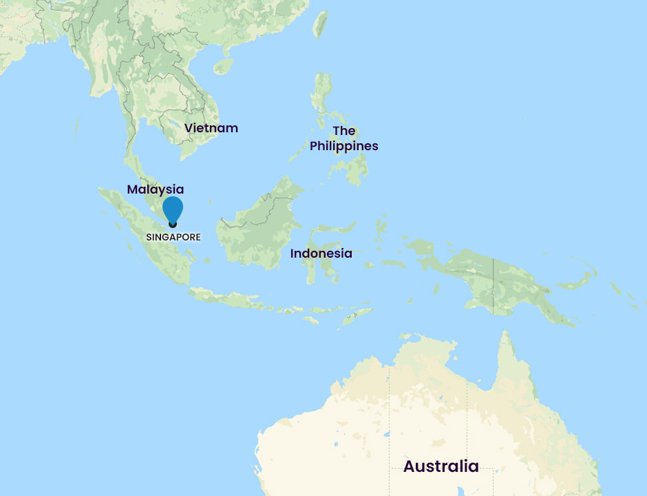 Ethypharm international offices asia map