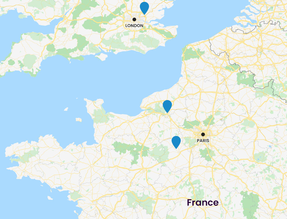 Ethypharm manufacturing sites europe map
